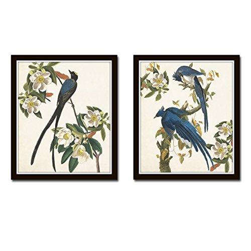 Blue Birds Print Set No. 1 Set of 2 Giclee Fine Art Prints - Unframed (1 Giclee Print)