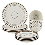 Rachael Ray Cucina Circles and Dots 12-piece Stoneware Dinnerware Set Review