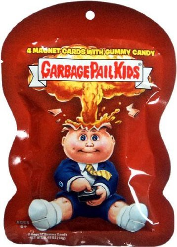Garbage Pail Kids Magnet Cards Pack with Gummy Candy by Topps