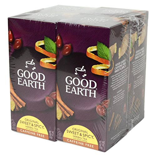 Good Earth Sweet & Spicy Flavored 4 Pack Herbal Teas - Good Earth Grocery