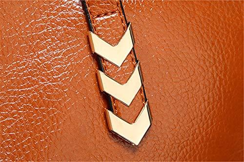 De Con La Bandolera Cocodrilo Brown Artificial Hombros Bolsos Patrón A Negro Moda X81qwxEqn