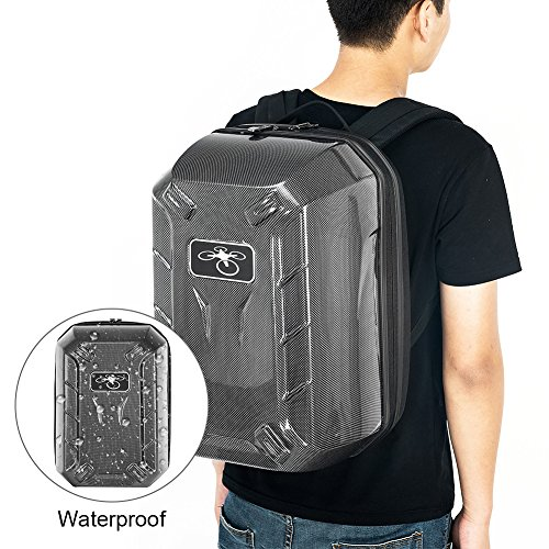 RCYAGO Waterproof Hardshell backpack travel Bag Carry Case For DJI Phantom 3 Advanced / DJI Phantom 3 Professional Quadcopter drone(Carbon Fiber) (3 Backpack)