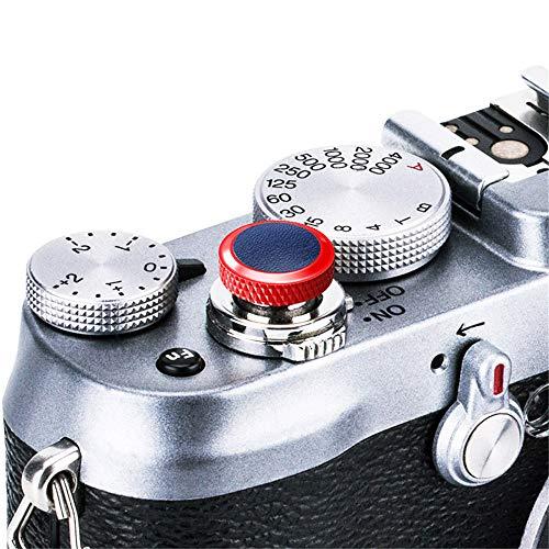 JJC Compatible Soft Shutter Release Button Cap for Fuji Fujifilm X-T3 XT3 X100F X-Pro2 X-Pro1 X-T2 X-E3 X-E2S X-T20 X-T10 X100T X100S X30 for Sony RX10 IV,RX10 III II,RX10,RX1R II,RX1 R,RX1 / R Blue