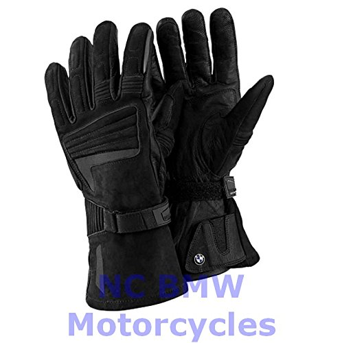 BMW Genuine Motorcycle Atlantis Waterproof Leather Gloves Black Size 9-9.5