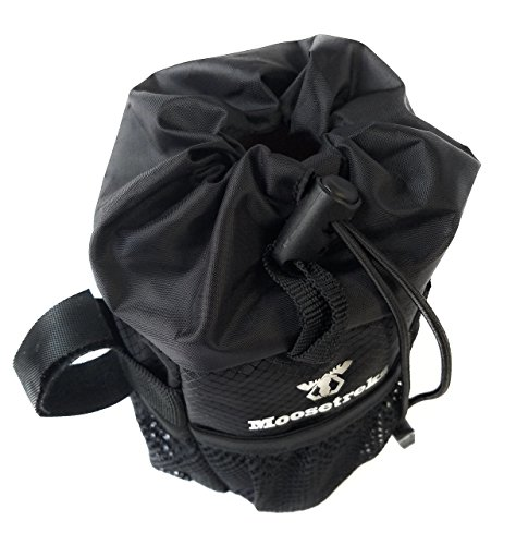 Moosetreks Bike Handlebar Stem Bag | Food Snack Storage, Water Bottle Holder | Bikepacking, Bicycle Touring, Commuting, Insulated Pouch by Moosetreks (Image #4)