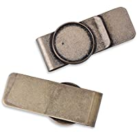 5pcs 20*55mm Fashion Simple Stainless Steel Money Clip Man Clamp Holder For Money Wallet,Card Holder,ANtique Bronze