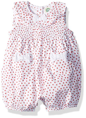 Little Me Baby Girls' Woven Sunsuit, White Print, 12 Months