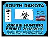 South Dakota Zombie Hunting Permit 2012 (Bumper Sticker)
