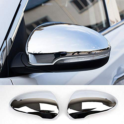 2pcs Fits For Hyundai Tucson 2016 2017 2018 Chrome Side Door Mirror Cover Rear View Cap Molding Garnish Overlay Protector Car Styling