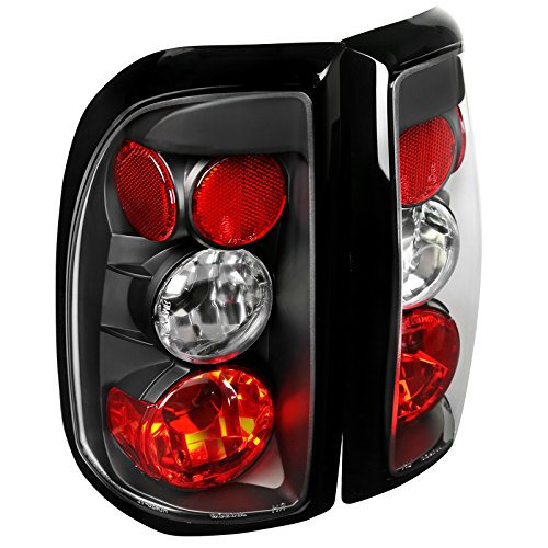 Spec-D Tuning LT-DAK97JM-TM Dodge Dakota R/T Pickup Truck Black Tail Lights