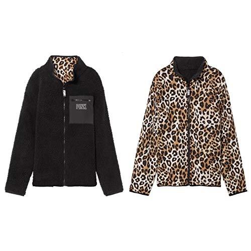 Victoria's Secret Pink Reversible Soft Sherpa Full Zip Anorak Jacket Medium