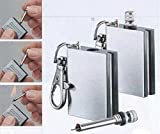 Retail Waterproof Outdoor Camping Standing match metal Striker Lighter with keychain survival Silver Matches