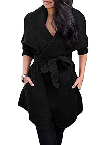 d7aee377e79d Image Unavailable. Image not available for. Color  Romacci Womens Winter  Lapel Long Sleeve Jacket ...