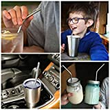 Straws - 8 Premium Stainless Steel Drinking Straws With BONUS Ice Cube Tray, Brush & FREE eBook. Fits all Yeti, RTIC & Ozark Trail Tumblers For 30 oz & 20 oz Tumblers. Reusable Straws