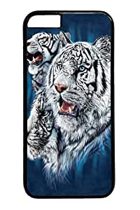 Find White Tigers PC Case Cover For SamSung Galaxy S6 Black