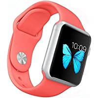 Apple Watch Band - WantsMall S/M Soft Silicone Sport Style Replacement iWatch Strap for 38mm Apple Watch Models