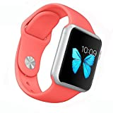 Women S Accessories Best Deals - Apple Watch Band - WantsMall Soft Silicone Sport Style Replacement iWatch Strap for 38mm Apple Watch Models (Coral)