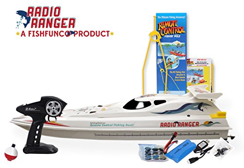 """Radio Ranger LLL 34"""" Remote Control Fishing Boat Upgraded 2.4Ghz Remote System from Fish Fun Co."""
