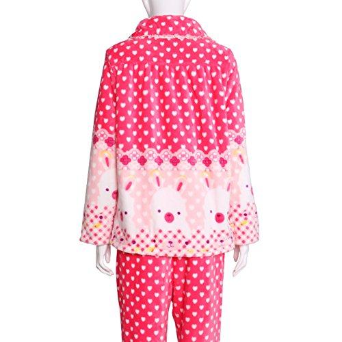 el sol terciopelo acolchado cálido pijama/Linda de la historieta impresiones de paquete de servicio a domicilio/ capa pantalones pijamas/Pijamas calientes B