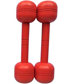 TELLM Wood Neoprene Coated Dumbbells Hand Weights for kids