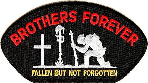 BROTHERS FOREVER Embroidered Jacket Vest Patch Veteran Military Emblem Forever Emblem