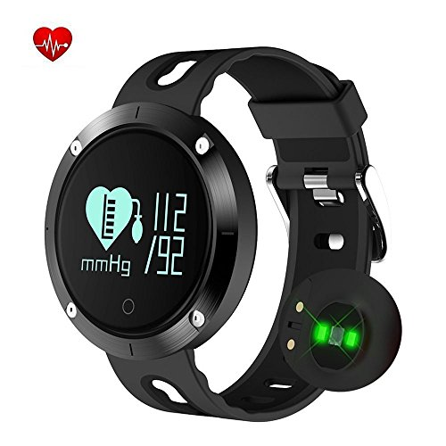 KEDA Fitness Tracker Smart Watch-Blood Pressure Monitor,Heart Rate Monitor,Sleeping Monitor,Tracker Pedometer with IP67 Waterproof OLED Large Touch Screen for IOS and Android(BLACK)