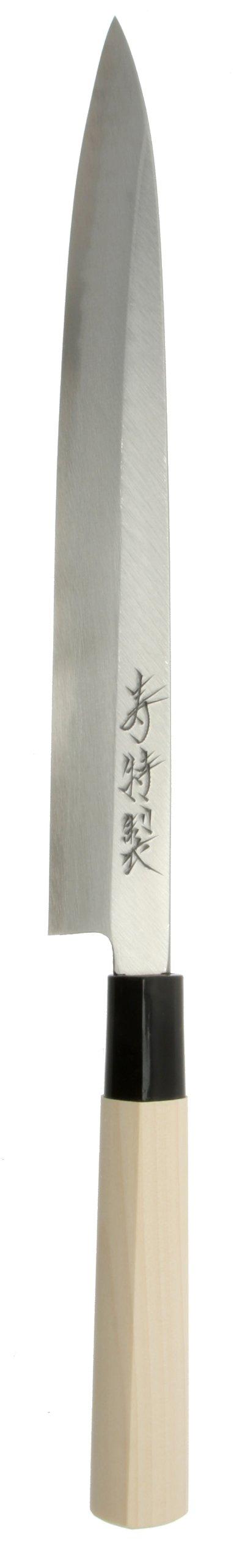 Kotobuki High-Carbon SK-5 Left-Handed Japanese Yanagi Sashimi Knife, 240mm