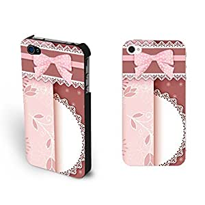 Cute Polka Dot Bow Design Iphone 4 Case Cover Pretty Lace Flower Iphone 4s Floral Cases for Teen Girls by icecream design