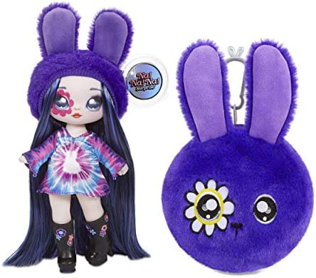 MGA Entertainment Na Na Na Surprise 2-in-1 Melanie Mod Fashion Doll & Plush Purse Series 4 – Soft Wallet Bag Pouch Gifts for Kids Girls Key Chain Pom