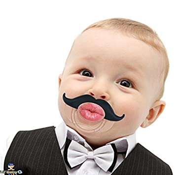 Funny Baby Pacifier Cute Kissable Mustache Pacifier For Babies And Toddlers Uni Bpa Free Latex