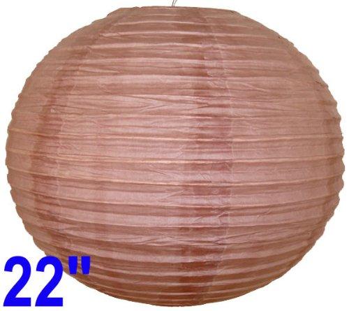 """Sienna Brown Chinese/Japanese Paper Lantern/Lamp 22"""" Diameter - Just Artifacts Brand"""