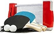 Franklin Sports Table Tennis To-Go – Conjunto completo de pingue-pongue portátil