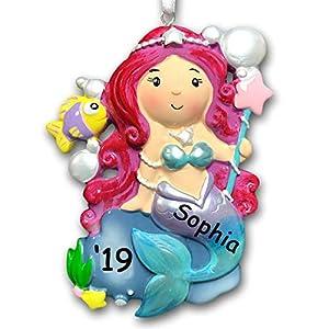 51dttPlkKML._SS300_ 100+ Mermaid Christmas Ornaments