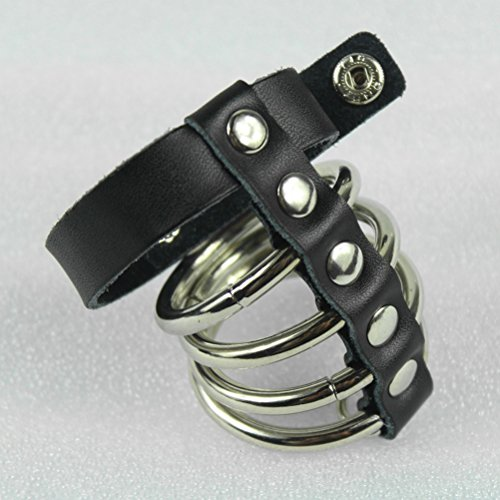 Demarkt PU Leather BDSM Toys Male Chastity Belt Device for Men Adjustable Cock Penis Bird Cage