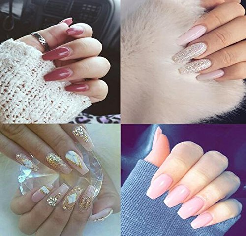 500pcs Ballerina Nail Tips Full Cover acrílico uñas postizas Coffin uñas 10 tamaños para salones de uñas y bricolaje Nail Art: Amazon.es: Belleza