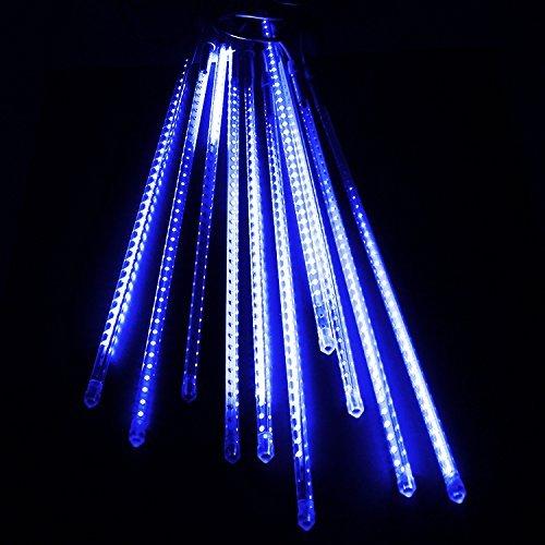 電光ホーム イルミネーション スノーフォールライト LED スノードロップライト つらら 50cm10本セット ブルー Blue 防水仕様 スノードロップ 流れ星 防雨型 防水 LED 電飾 イルミネーションライト 装飾 照明 ライト クリスマスライト B00QSFHE1O 10450