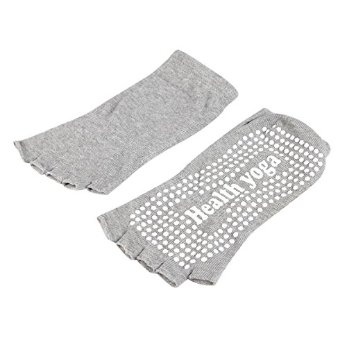Meaiguo Womens Toeless Yoga Pilates Socks Non Slip Skid With Grips Cotton,4 Pack