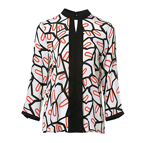 Camicie Da Camicetta Camicia Lunga Donna Seta Sciolto In Di Aibab Manica 7Bqdw7