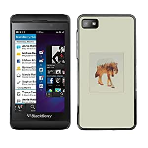 Caucho caso de Shell duro de la cubierta de accesorios de protección BY RAYDREAMMM - Blackberry Z10 - White Wolf Montaña
