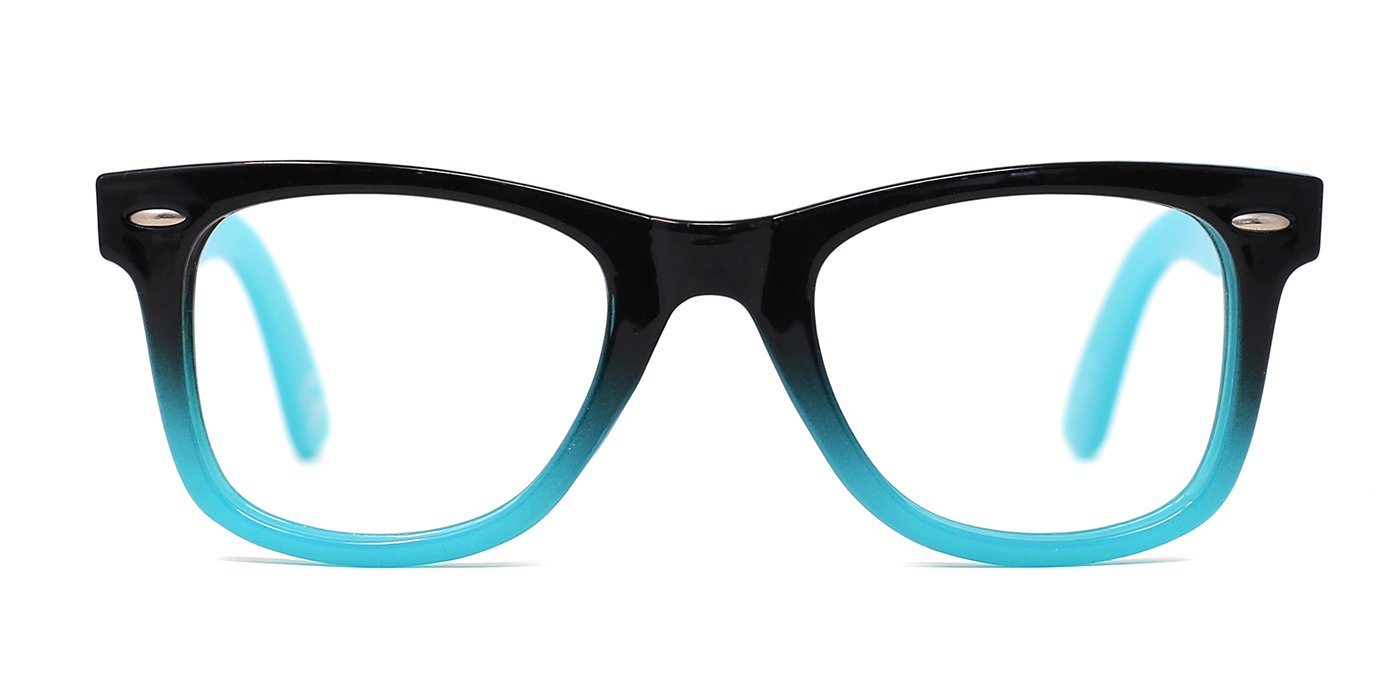 TIJN Safety Eyewear Cute Blue Square Eyeglasses Glasses with Clear Lens for Kids Boys Girls