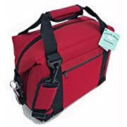 Polar Bear Coolers - Nylon Line - Quality Like No Other From the Brand You Can Trust - See Touch & FEEL the Polar Bear Difference - Patent Pending - 12 Pack Red