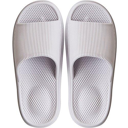 Womens Comfort Indoor Bathroom Shower Solid Slide-on Slippers Ladies Water Shoes Violet Hawk Slippers