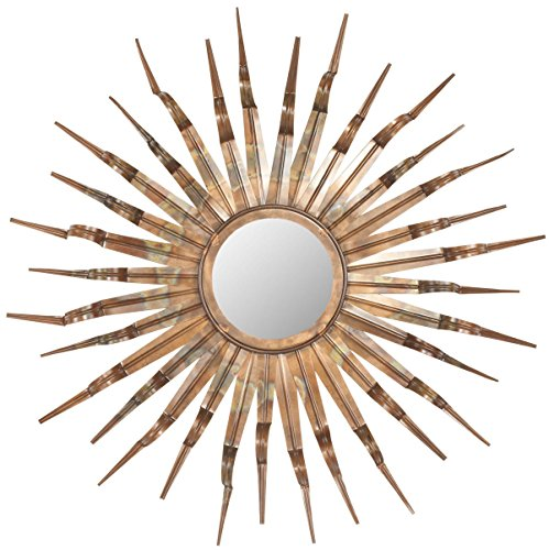 safavieh home collection sun mirror 331 by 39 by 331inch copper