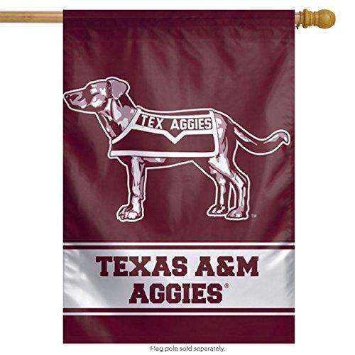 Throwback Vertical Flag - WinCraft Texas A&M Flag 27x37 Aggies College Vault Throwback Logo Vertical House Banner