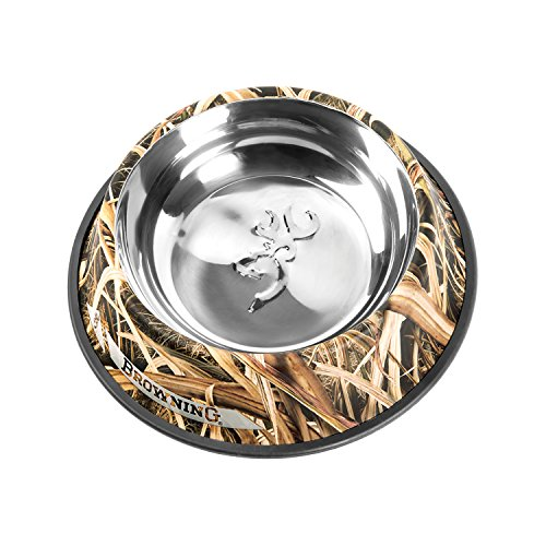 Browning Stainless Steel Pet Dish, Mossy Oak Shadow Grass, (Foyer Bowl)