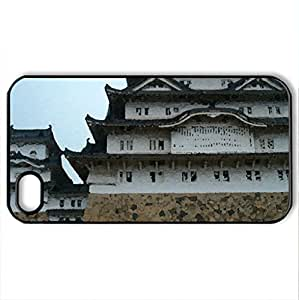Japanese Castle - Case Cover for iPhone 4 and 4s (Ancient Series, Watercolor style, Black) by icecream design