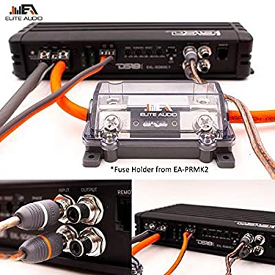 Elite Audio 4 Gauge CCA Premium Amp Kit - EA-PRMK4 Complete Amplifier Installation Wiring Kit with 20 feet 4 AWG + 2-Channel RCA Interconnects 2000W: Car Electronics