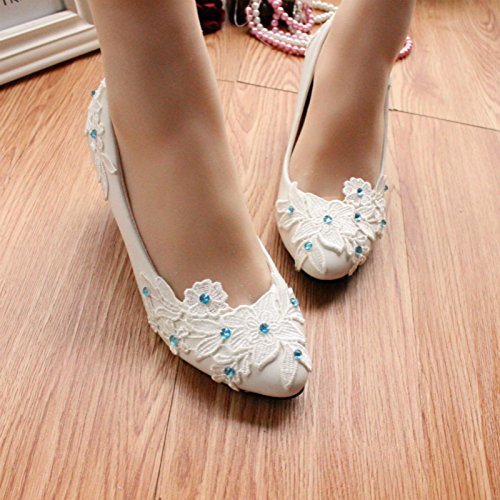 Soluble Women's Summer Si Heel And Spring Water Party Customize Flat Bridesmaid Handmade Wedding Flower Height amp; Shoes Banquet 5rYwqCrxv