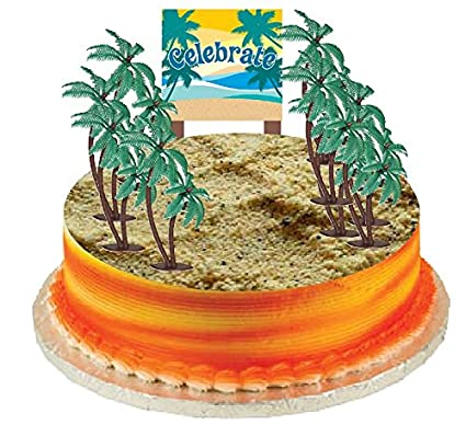 Cake Food Cupcake Decoration Plant Tree Topper Picks With Plaque 12 Coconut Palm Trees