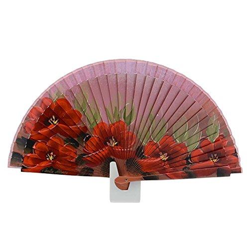 o Abanico Y Flores Rojo Afeitado Naranja Dise Abanicos Hojas tSnqw7x65a